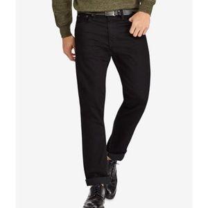 Men's Polo Varick Slim Straight Black Jeans